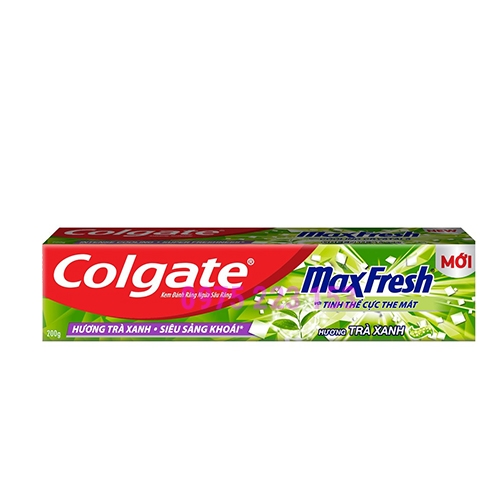 Kem đánh răng Colgate Max Fresh Hương Trà Xanh mát lạnh 200g