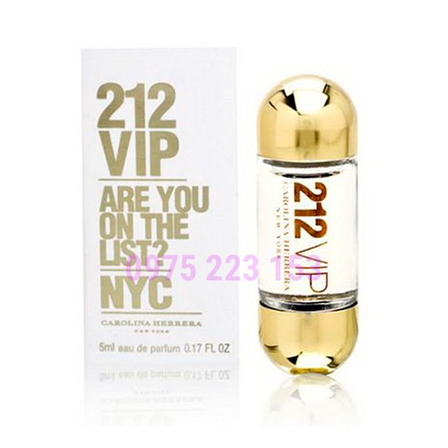 Nước hoa nữ 212 VIP Are You On The List NYC Carolina Herrera EDP 5ml