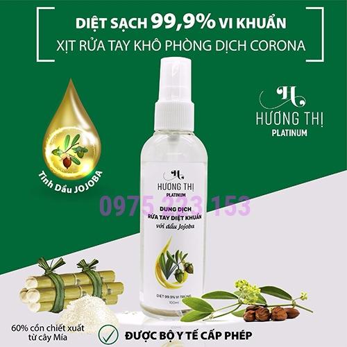 Xịt rửa tay khô diệt khuẩn với dầu Jojoba Hương Thị 100ml
