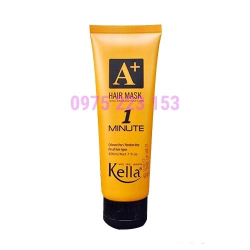 Kem hấp phục hồi tóc 1 phút Kella Hair Mask 200ml