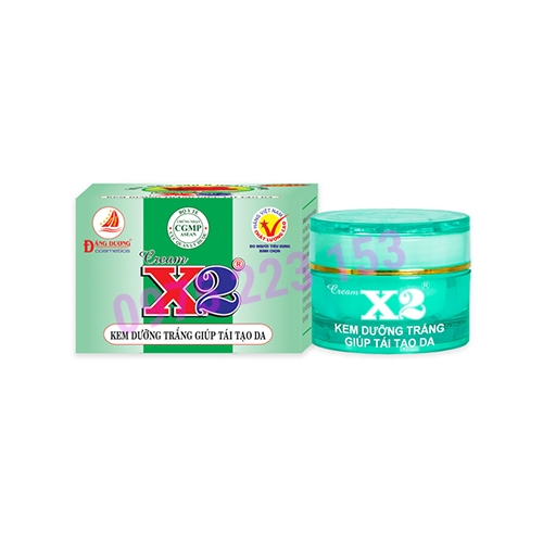 Kem dưỡng trắng tái tạo da X2 8g