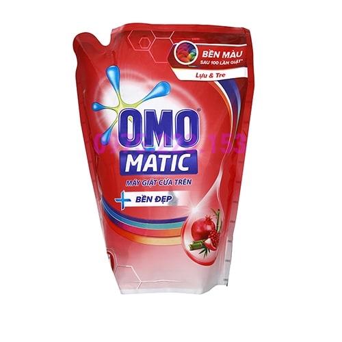 Túi nước giặt dành cho máy giặt cửa trên Omo Matic Tinh Chất Tre Lựu 2.2lit