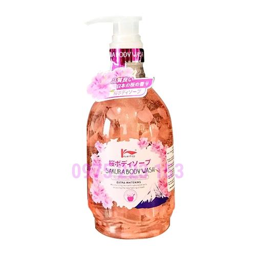Sữa tắm dưỡng da hoa anh đào Keyanhzp Sakura Body Wash 500ml