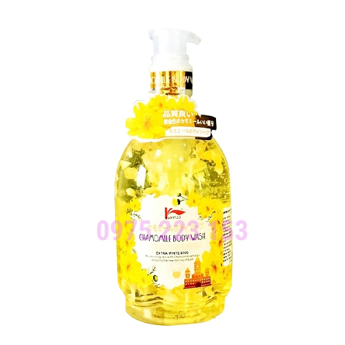 Sữa tắm dưỡng da hoa cúc Keyanhzp Chamomile Body Wash 500ml