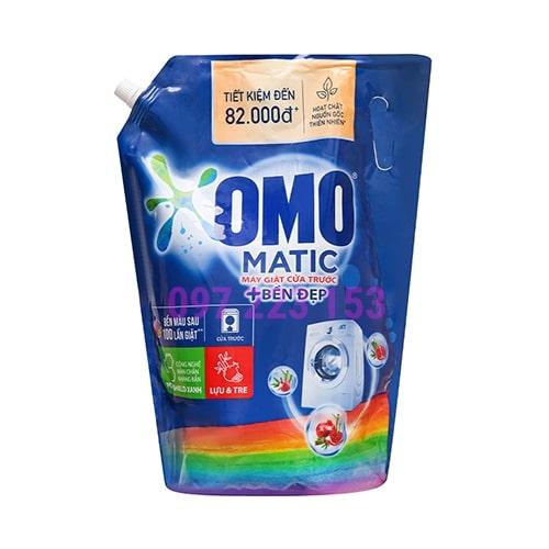 Túi nước giặt Omo Matic bền đẹp Lựu Và Tre cho máy giặt cửa trước 3.7kg