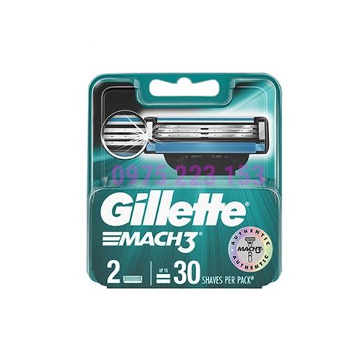 Vỉ 2 lưỡi thay thế Gillette Mach3 Classic