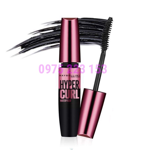 Mascara Cong Mi  Maybelline The Hyper Curl Waterproof Very Black - Màu Đen
