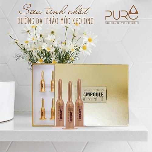 Set tinh chất keo ong Ampoule Pure Hàn Quốc Chính Hãng