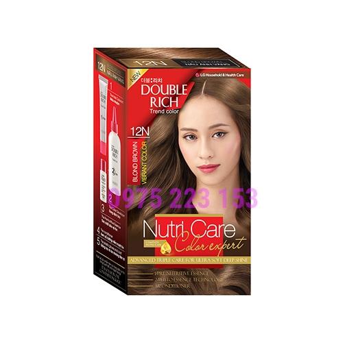 Thuốc nhuộm tóc Double Rich Trend Color 12N - Nâu Vàng Hoe