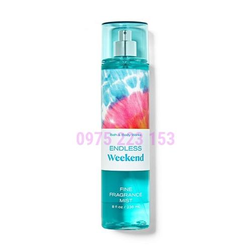 Xịt thơm toàn thân Bath and Body Works Endless Weekend Fine Fragrance Mist 236ml