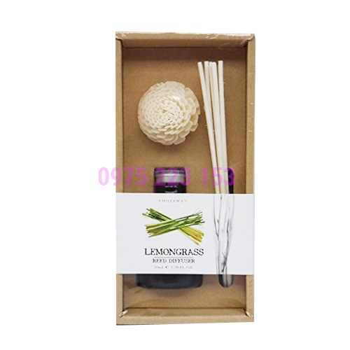 Tinh dầu thơm phòng Phutawan Reed Diffuser Lemongrass 50ml