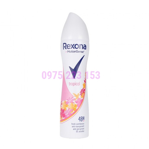 Xịt khử mùi cơ thể Rexona MotionSense Tropical 48h 150ml