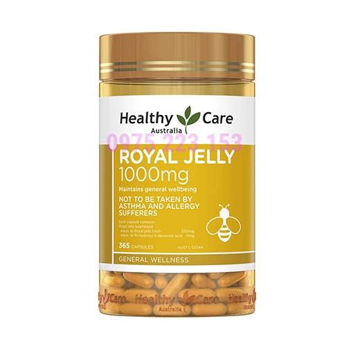 Sữa ong chúa Healthy Care của Úc Healthy Care Royal Jelly 1000mg 365 viên