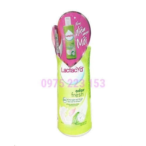 Dung dịch vệ sinh phụ nữ Lactacyd Odor Fresh ngăn mùi 24 giờ 150ml