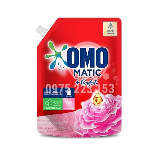 Túi nước giặt Omo Matic hương Hoa Hồng Ecuador  2kg - tặng nước rửa chén