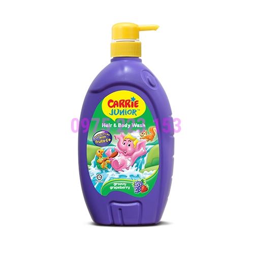 Tắm gội toàn thân Carrier Junior hương nho dâu 700g