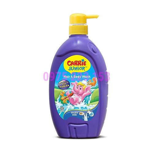 Tắm gội toàn thân em bé Carrie Junior tinh chất sữa 700g