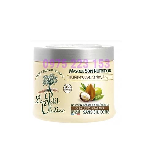 Kem ủ tóc Le Petit Olivier chiết xuất Dầu Olive -  Bơ Hạt Mỡ - Dầu Argan 330ml