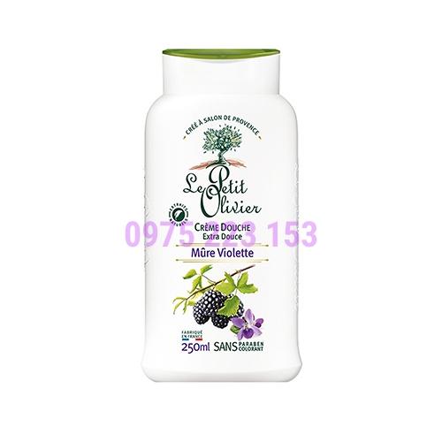 Sữa tắm Le Petit Olivier chiết xuất từ Quả Phúc Bồn Tử và Hoa Violet 250ml