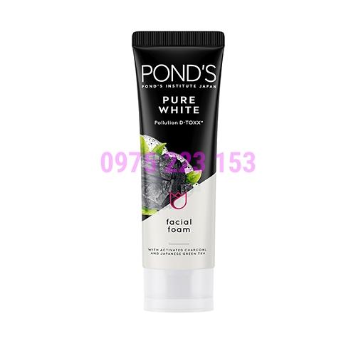 Sữa rửa mặt sạch sâu Ponds Pure White Pollution Detox 100g
