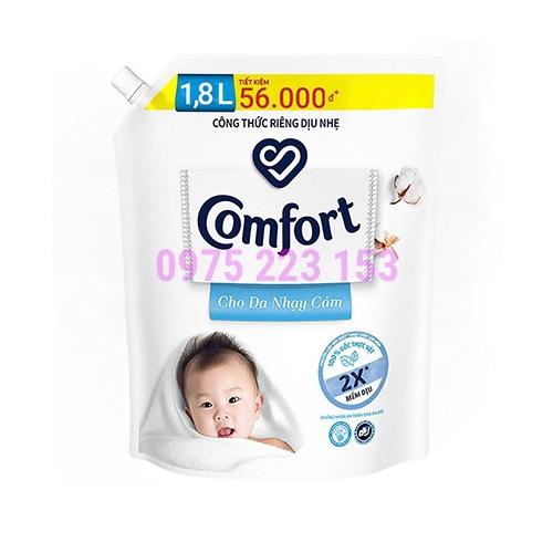 Túi nước xả vải Comfort dịu nhẹ cho da nhạy cảm 1.8lit