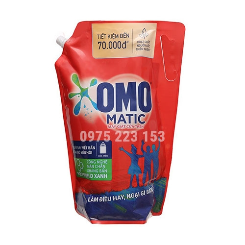 Túi nước giặt Omo Matic bền đẹp máy giặt cửa trên 4kg