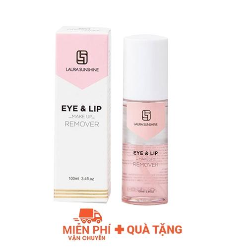 Tẩy trang mắt môi Laura Sunshine Eye & Lip Make Up Remover 100ml - Nhật Kim Anh