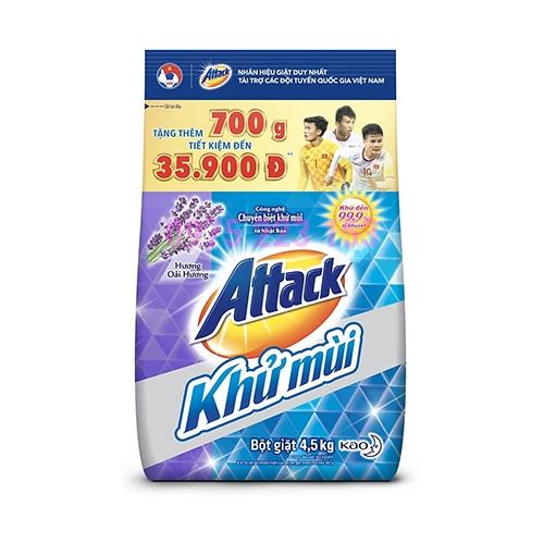 Bột giặt Attack khử mùi hương Lavender 4.5kg