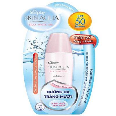 Gel Chống Nắng Dưỡng Da Trắng Mượt Sunplay Skin Aqua Silky White Gel SPF50++/PA+++
