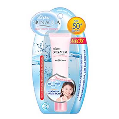Kem Chống Nắng Dưỡng Da Mặt Trắng Mượt Sunplay Skin Aqua Silky White Essence SPF50+/PA+++