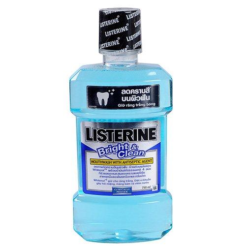 Nước súc miệng Listerine Bright & Clean 750ml