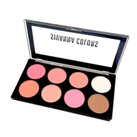 Set má hồng -tạo khối Sivanna Colors Ultra Blush Palette 8 ô