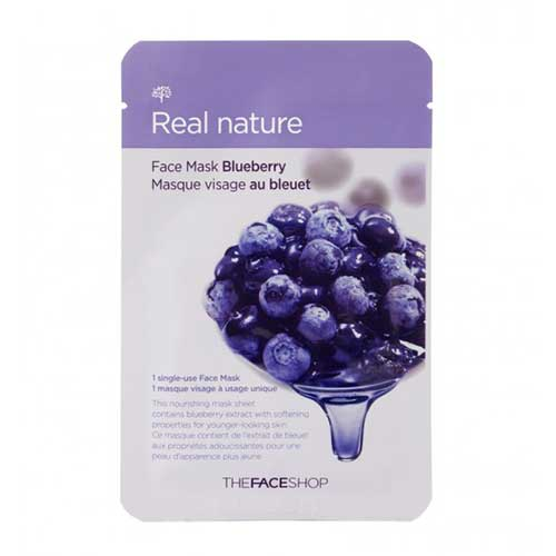Mặt nạ việt quất Real Nature Mask Blueberry TheFaceShop 20g