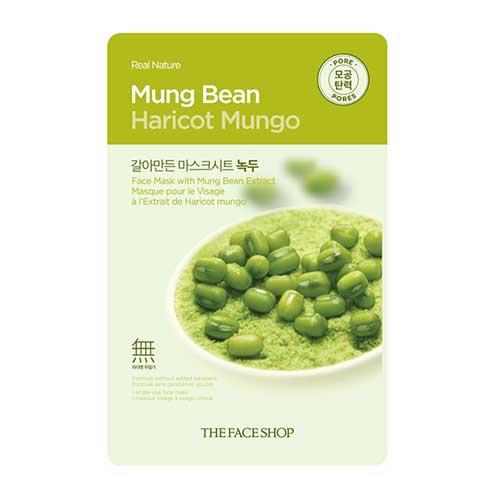 Mặt nạ đậu xanh Real Nature Mung Bean Haricot Mungo TheFaceShop 20g