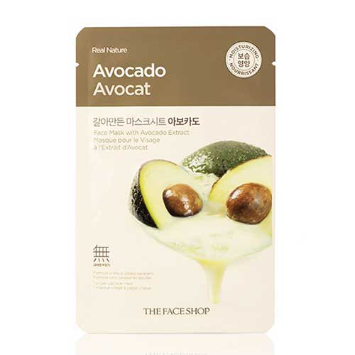 Mặt nạ trái bơ Real Nature Avocado Avocat  TheFaceShop 20g