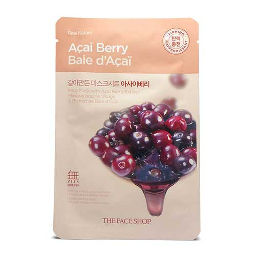 Mặt nạ mâm xôi Real Nature Acai Berry Baie D'Acai TheFaceShop 20g