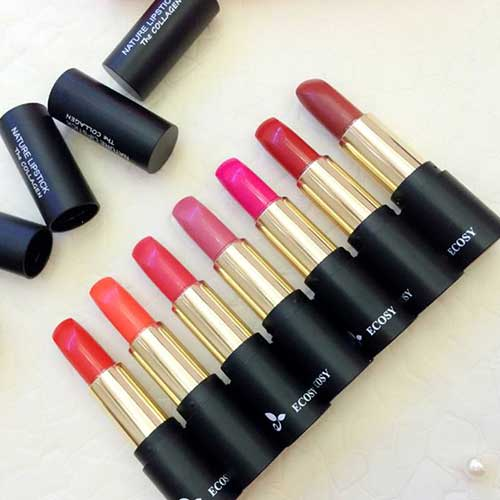 Son Ecosy  The Collagen Nature Lipstick-8 màu