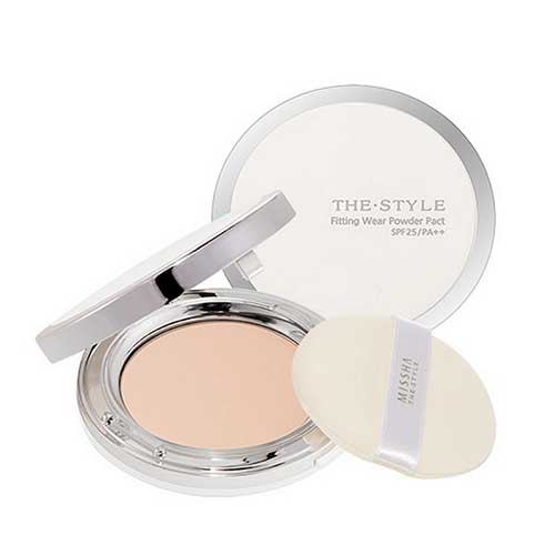 Phấn trang điểm Missha The style Fitting Wear Power Pact SPF 25/PA++ No.21Light Beige 10g