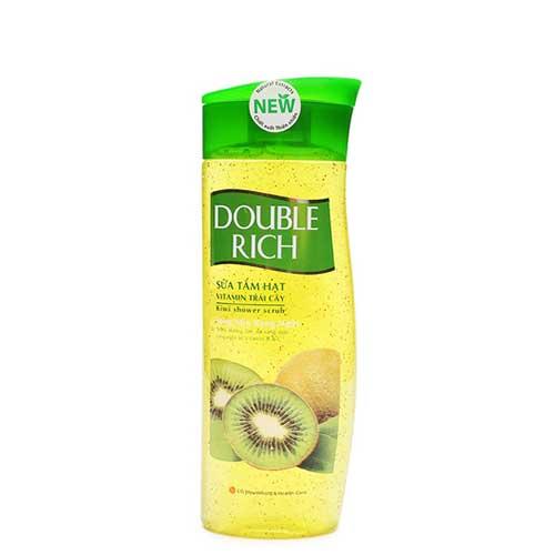Sữa tắm hạt kiwi Vitamin trái cây sáng mịn rạng ngời Double Rich 420g