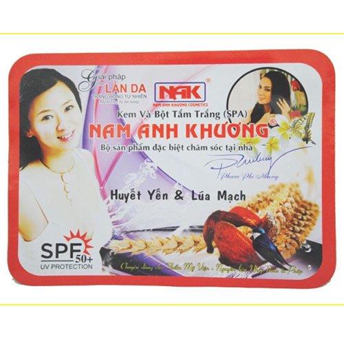 Kem và Bột Tắm Trắng Huyết Yến & Lúa mạch Nam Anh Khương