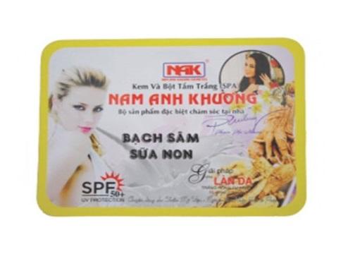 Kem và Bột Tắm Trắng Bạch Sâm & Sữa Non Nam Anh Khương