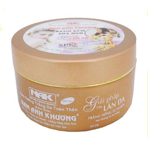 Kem dưỡng trắng da toàn thân Bạch Sâm sữa non Nam Anh Khương