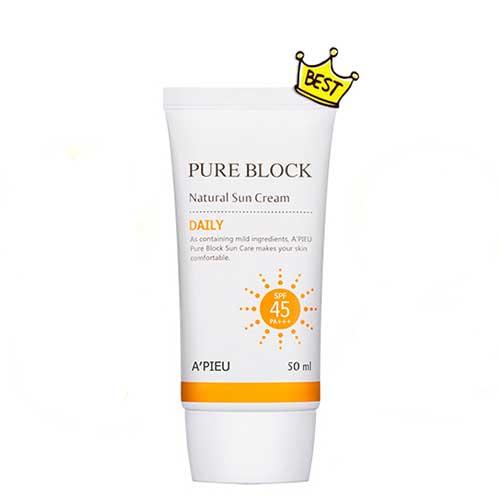 Kem Chống Nắng A'pieu Pure Block Natural Daily SPF45/PA+++