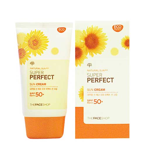 Kem Chống Nắng Thefaceshop Natural Sun Super Perfect Sun Cream SPF50 PA+++