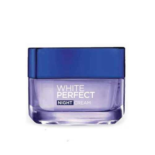 Kem Dưỡng trắng mịn đều màu Loreal Paris White Perfect ban đêm 50ml
