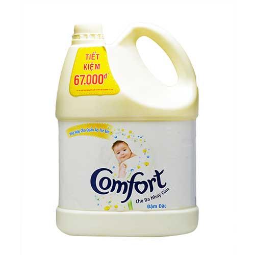 Nước xả vải Comfort đậm đặc cho da nhạy cảm 3.8L