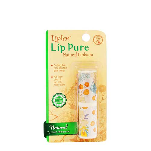 Son dưỡng LipIce Lip Pure Natural Lipbalm 4g