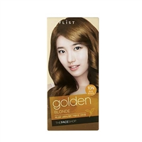 Thuốc nhuộm tóc Stylist Silky Hair Color Cream Golden Blonde The Face Shop 10N