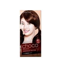 Thuốc nhuộm tóc Stylist Silky Hair Color Cream Choco Brown The Face Shop 8C