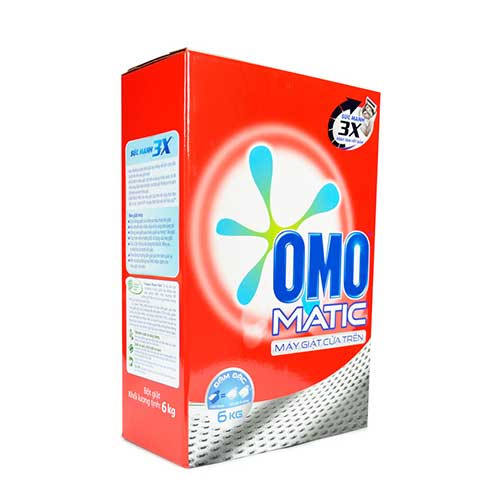 Bột giặt Omo Mactic cửa trên 6 Kg